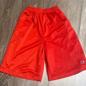 Champion shorts red size large